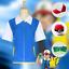 Pokemon-Cosplay-Costume-Ash-Ketchum-Trainer-Shirt-Jacket-Gloves-Hat-Ball Indexbild 5