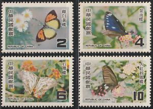 346-CHINA-TAIWAN-1978-TAIWAN-BUTTERFLIES-SET-FRESH-MNH-SG-CAT-4-75
