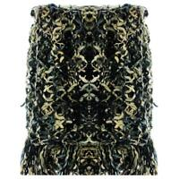 Sabira $169 Beige Brown Black Boucle Fringed Blanket Throw Bedding 64 X 72