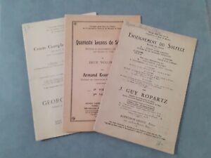 Partitions-Orchestre X3 Curso Solfeo Enseñanza Ropartz-Bournonville-Becker
