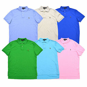 Ralph Interlock Polo Mens Lauren Shirt Touch Soft Cotton Pima dzRWCpP