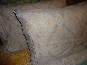 Swell Cindy Crawford Coronado Paisley Blue Tan Gold Pair Evergreenethics Interior Chair Design Evergreenethicsorg