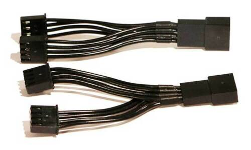 Sold in Pairs Black 40099 Ciro Rear End Lighting Y-Splitter Connectors