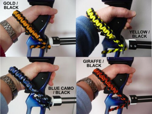 Archery bow sling//poignet sling 100/'s de combinaisons de couleurs bowsling-uk made