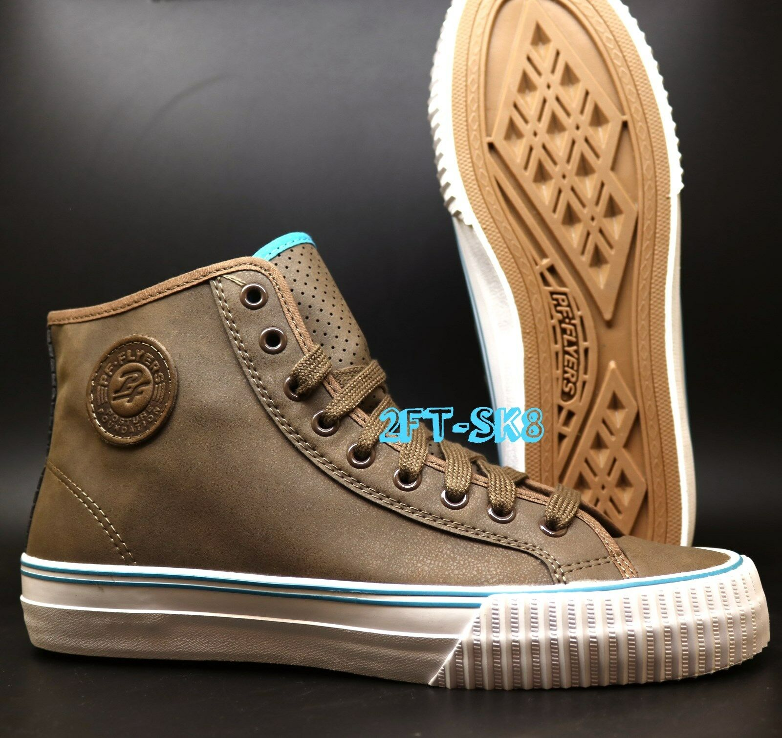 PF FLYERS CENTER HI BROWN PABBLE HIGH SYNTHETIC LEATHER  Herren HIGH PABBLE TOP Schuhe S8921.166 bb7e4d