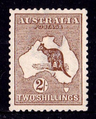 Australia 1913 Kangaroo 2/- Brown 1st Watermark MH