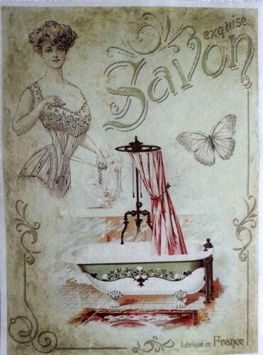 Rice Paper for Decoupage Craft Vintage Vintage Lady Sheet A4 Bathroom