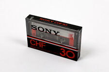 SONY CHF 30 45m (×1): MADE IN JAPAN NEW SEALED BLANK CASSETTE TAPE