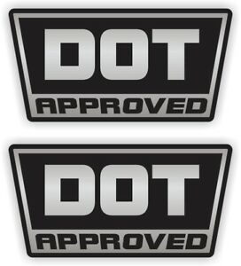 Details About Silver Dot Approved Motorcycle Helmet Stickers Vinyl Decals Labels D O T Pair