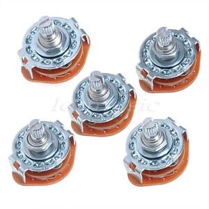 5P 4 Way Rotary Switch 3Pole 4Position For GuitarAmplifierLamp