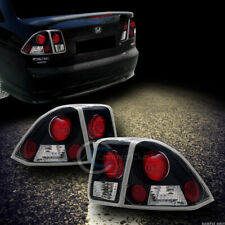Fit 01 05 Honda Civic 4 Door Sedan Jdm Blk Clear Sport Altezza Tail Lights Lamps Fits 2004 Honda Civic