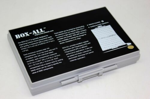 12 BOXALL Enclosure box surface mount 144 components organizer 0805 0603 0402 RC