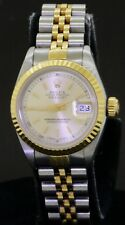 Rolex Datejust Steel Yellow Gold Champagne Dial Automatic Ladies Watch 69173