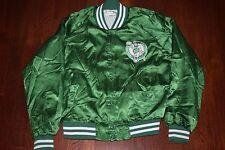 Vintage Boston Celtics Chalkline Satin Jacket Size Large L  Zip Up Button Puffer