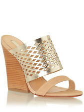 Schutz Brunilla Mule Sandal, Macadamia/Specchio Platina SIZE 8 B