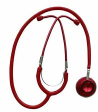 Stethoskop Doppelkopf umschaltbar Erwachsene Rot Stetoskop Aluminium eloxiert !