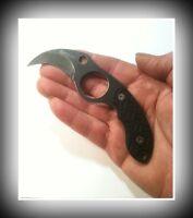 Mtech Black Hawk Karambit Tactical Neck Knife +go Bag Organization Zipper Pouch