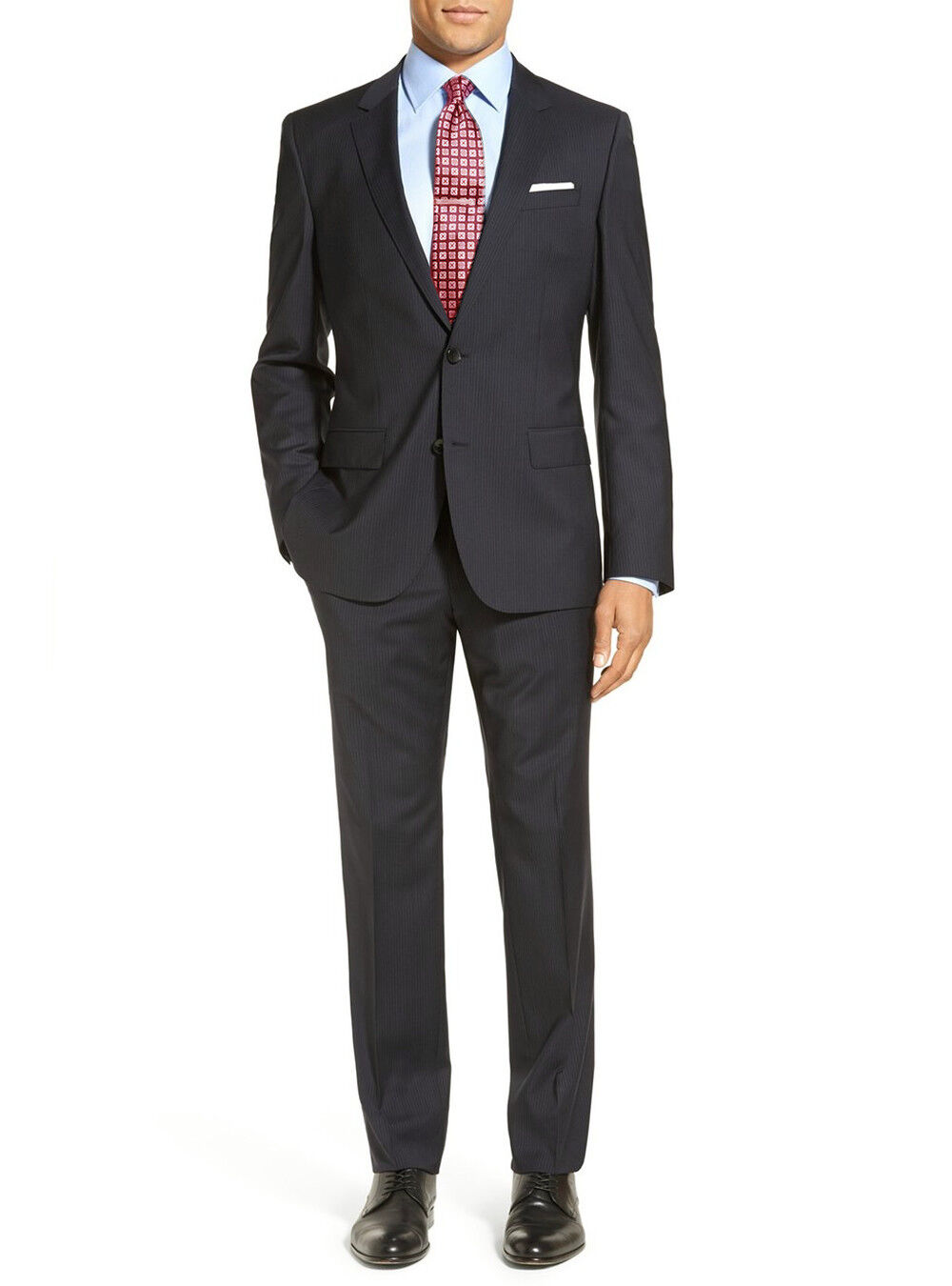 LN LUCIANO NATAZZI Two Piece Mens Button Suit Modern Fit Narrow