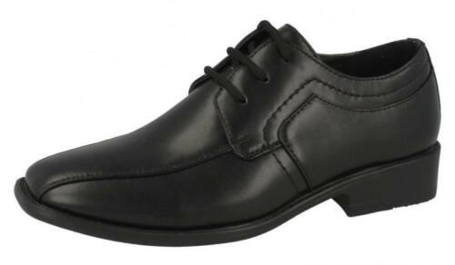 Boys JCDees Black Lace Up Formal Shoes UK Sizes 13-5 N1109