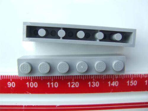 - 4211393 Parts /& Pieces size 1x6 2 x Lego Grey Brick