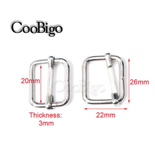 Metal Slider Tri-glides Wire-formed Roller Pin Buckles Strap Adjuster Harness