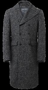 spina Cromby grigio lana lungo in da a manica uomo doppiopetto Cappotto lana a in corta x7wzP