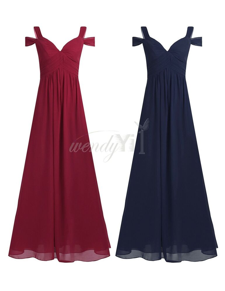 Womens Ball Gown Vintage Cocktail Long Maxi Lace Chiffon Party Evening Dress
