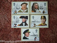 PHQ Stamp cards FDI Front No 60 Maritime Heritage 1982 5 card set Mint Condition