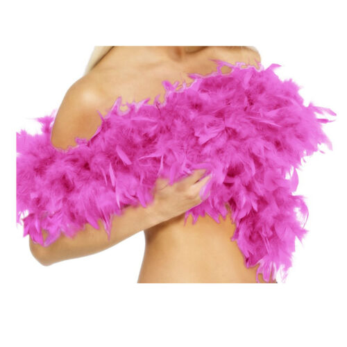 1920s-30s Feather Boa Thick Deluxe Fancy Dress-Hen Night Flapper Party 10 Colour
