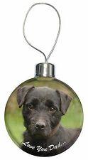 Fell Terrier 'Love You Dad'  Christmas Tree Bauble Decoration Gift, DAD-29CB