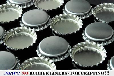 "50 SILVER LINERLESS NO LINER BOTTLE CAPS BOTTLECAP /& 50 EPOXY 1/"" DOME STICKER"