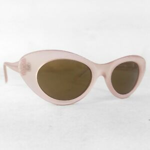 Vintage-design-Eyewear-sunglasses-Acrylic-Pink-New-Old-Stock-80s