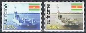 Suriname-rep-postfris-1998-MNH-982-983-De-Canawaima-Schepen-Ship