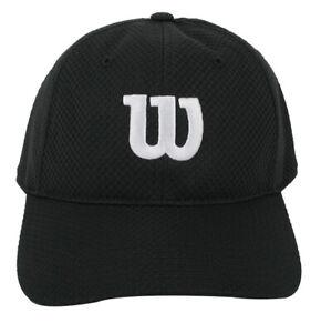 Wilson-Summer-Cap-2-Tennis-Hat-Badminton-Squash-Black-UV-Protection-WRA770803