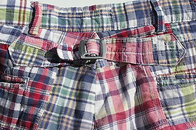 Polo Ralph Lauren 33 Waist Magenta Patchwork Madras Check Cotton Shorts