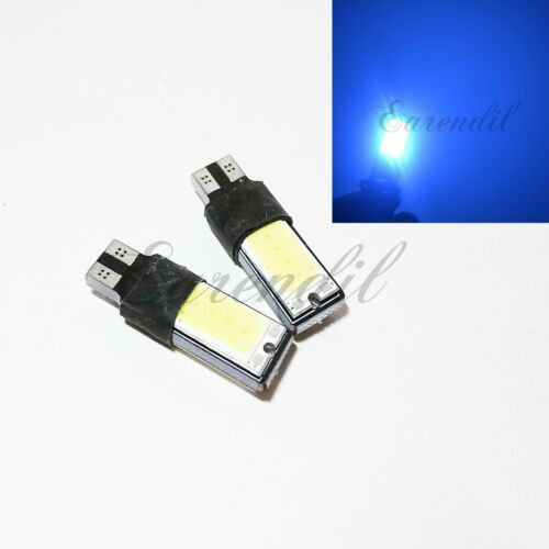 T10 2x 168 192 175 Super Blue COB High Power LED Bulb #Nt10 Front Side Marker