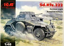 1/48 Sd.Kfz.222 German armored car WWII- ICM MODEL KIT 48191