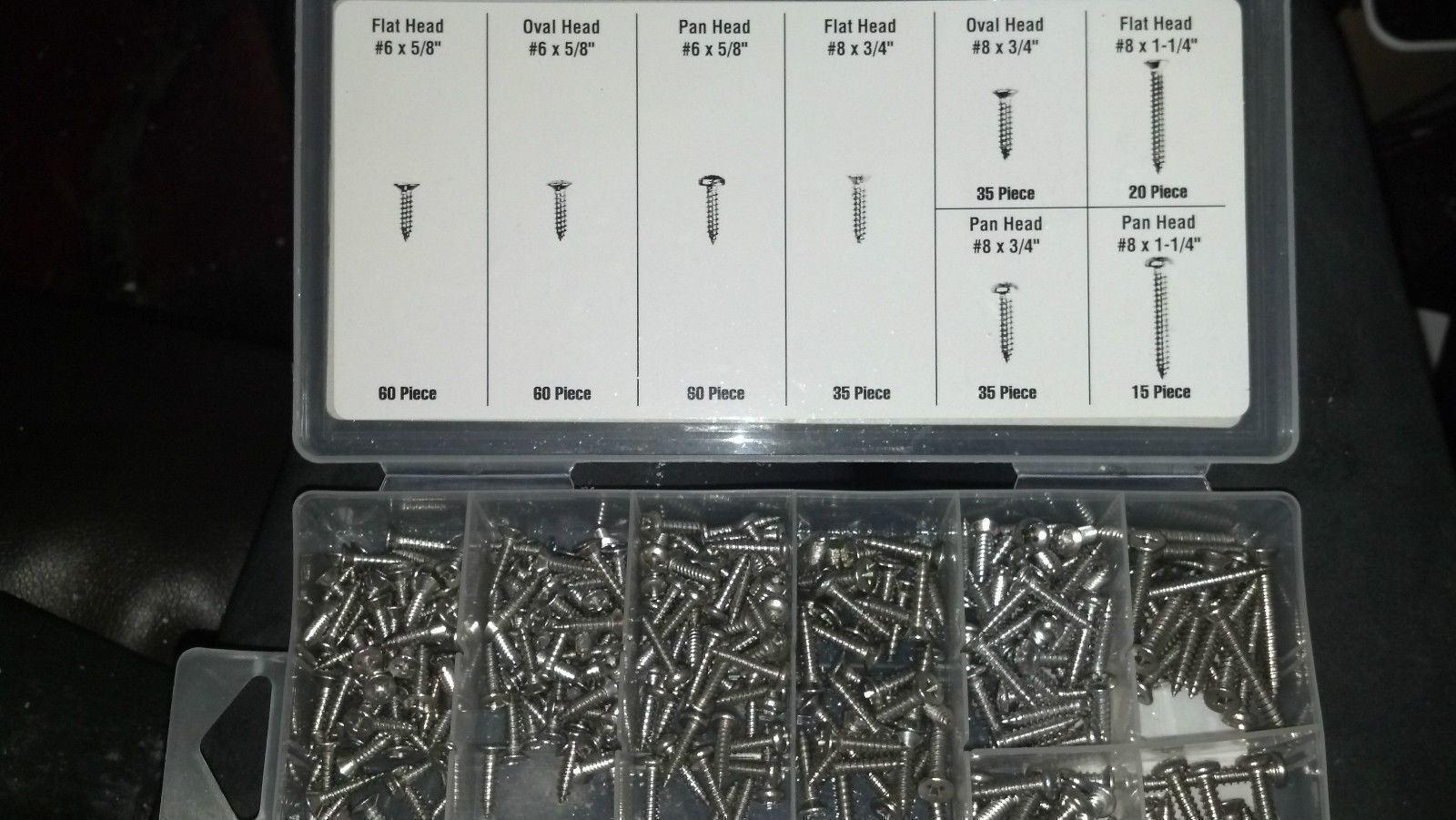 372 PIECE STAINLESS STEEL SCREW PILLAR CONSOLE DASH TRIM HEADLINER DOOR PANEL