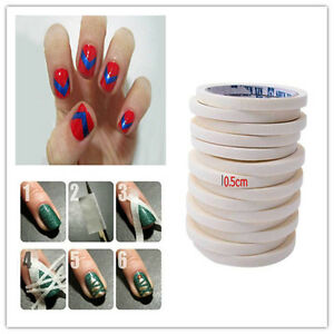 1roll Fashion Nail Art Accessory Tips Guide Tape Roll Nail Polish