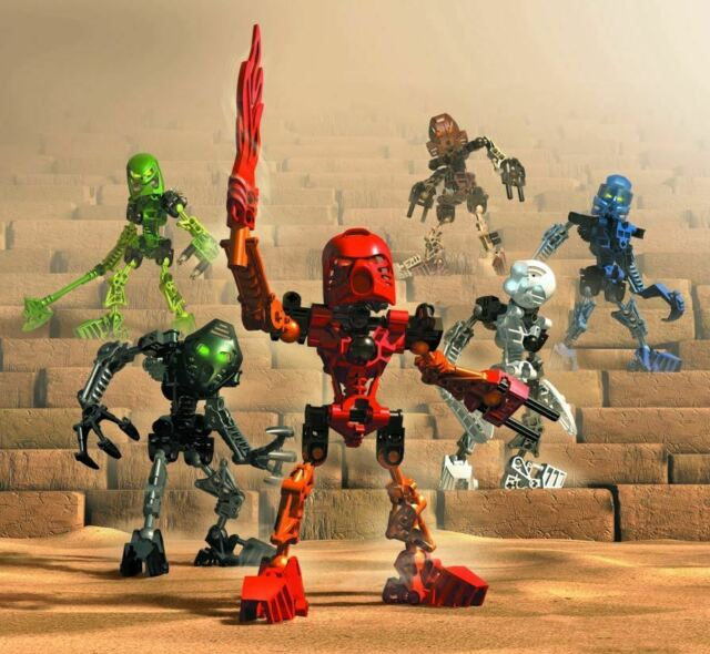 C105 Lego 8532 Bionicle Mata Nui Toa Onua  complet de 2001