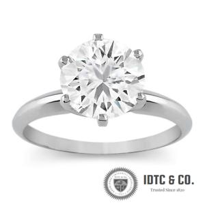 2cf7d6747 2 Carat Round Cut D VS2 Diamond Engagement Ring 14k White Gold Enhanced