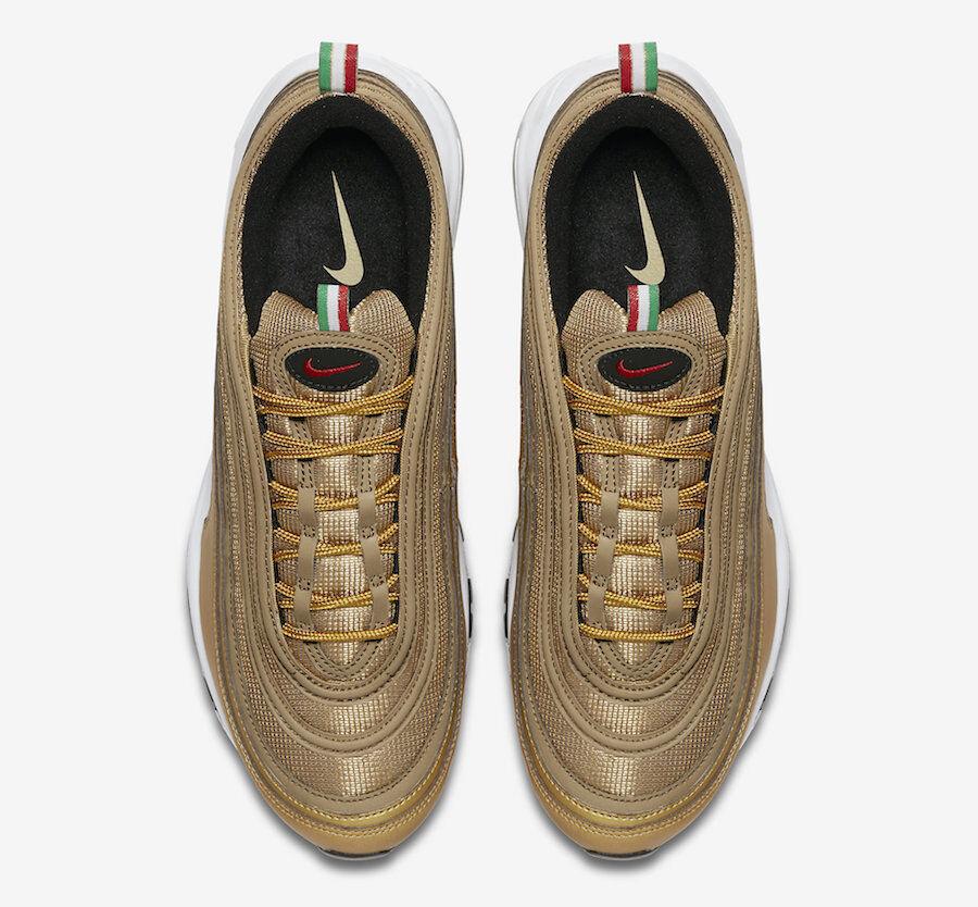 "Nike Air Max 97 "" Flag  AJ8056-700 gold Men Sizes NEW 100% Authentic"