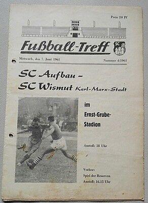 Programme RDA Superliga 1987//88 FC Karl Marx ville-Bismuth AUE