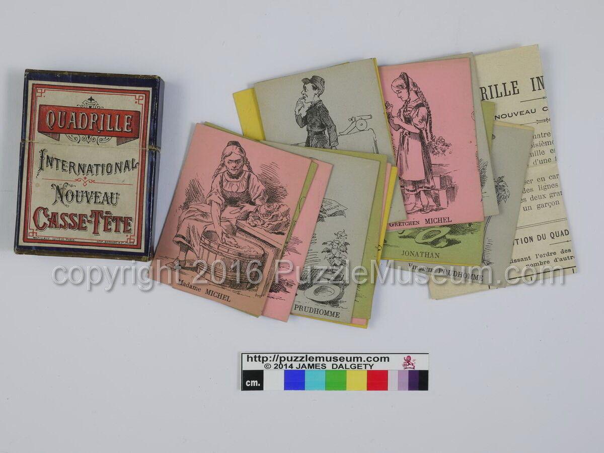 Antique French Sequential Puzzle - Quadrille International by Watillaux - Paris