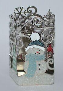 Bath /& Body Works Snowman Black Hat Gentle Foaming Soap Holder Silver Glitter