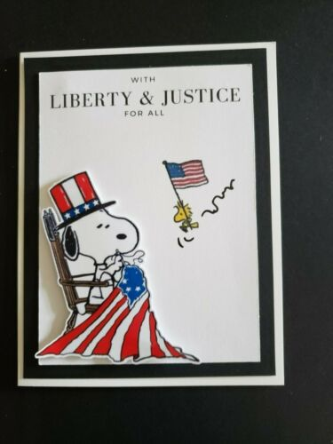 SNOOPY WITH LIBERTY /& JUSTICE FOR ALL