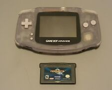 NINTENDO GAMEBOY ADVANCE HANDHELD SYSTEM CLEAR GLACIER TESTED/ With Game.