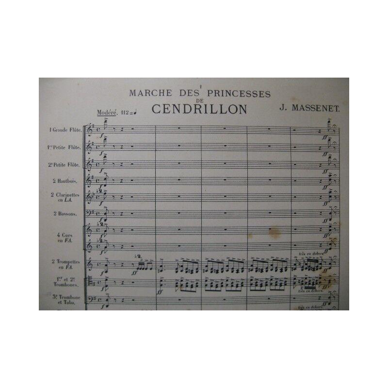 MASSENET Jules Marche des Princesses Orchestre 1899 partition sheet music score