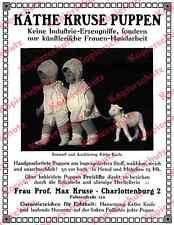Foto-Reklame Käthe Kruse Puppen Handwerk Spielzeug Berlin Charlottenburg 1912