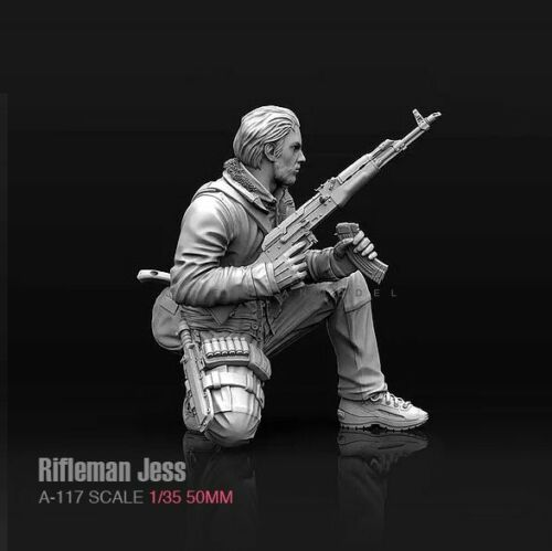 1//35 Rifleman Jess Female Soldier Girl Unassembled resin scale 50 mm model